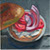 Jan 25: Toasted Sesame seed bagel, tomatoes, red onion, cream cheese